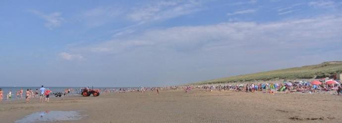 Am weiten Strand gibt es kein Gedränge.
