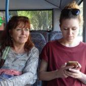 Im Bus nach hause.