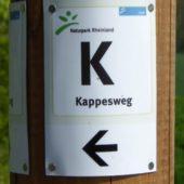 """Gut ausgeschildert ist der Radwanderweg """"Kappesweg""""."""
