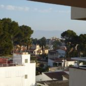 Erster Blick vom Balkon.