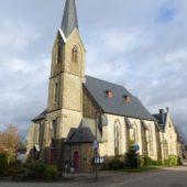 Die Kirche in Agathaberg bei Wipperfürth.