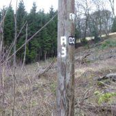 Der Wanderweg A3 im Bergischen.