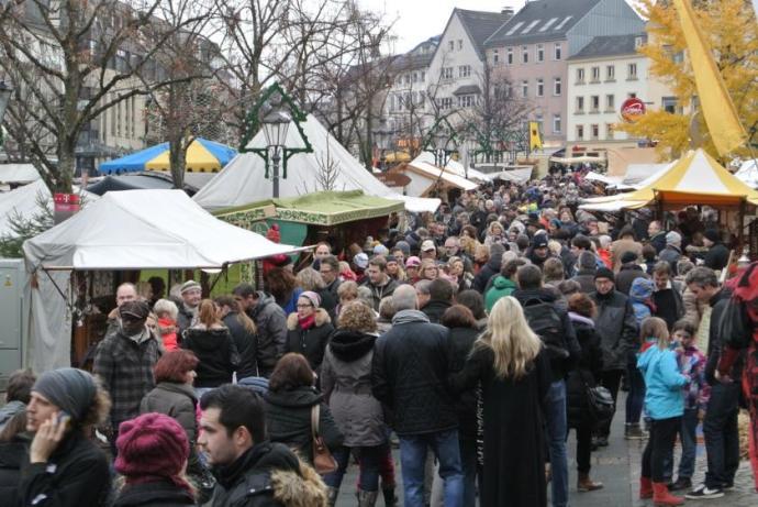 Der mittelalterliche Weihnachtsmarkt in Siegburg.