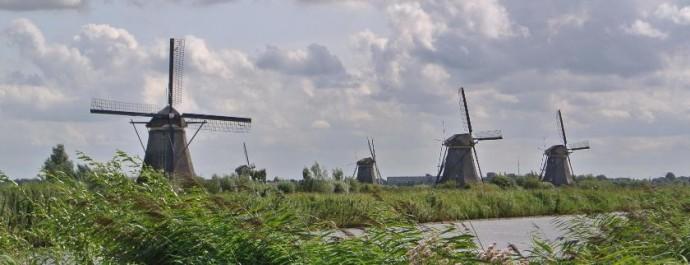 Die Mühlen in Kinderdijk sind UNESCO-Weltkulturerbe.