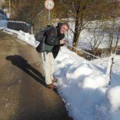 Axel fotografiert Schnee