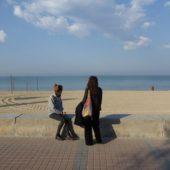 Das erste Mal am Strand.
