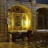 Ich in der Kirche Sant Jaume.