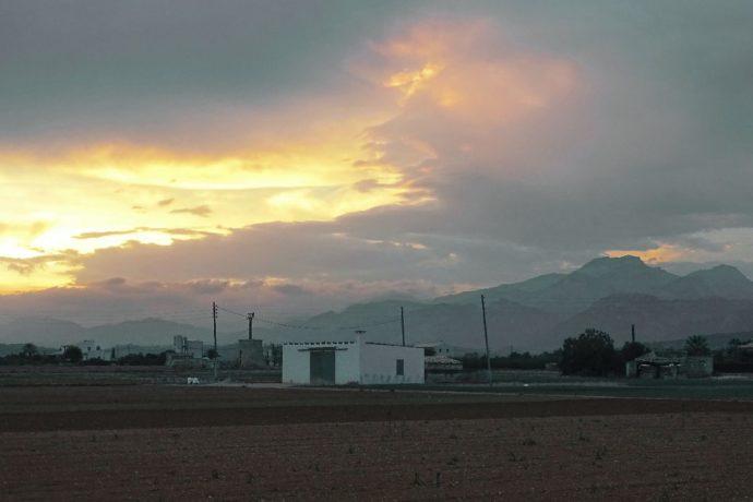 Sonnenuntergang auf dem Weg zu Uschi nach nach Campos.