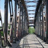 Auf der Hubbrücke